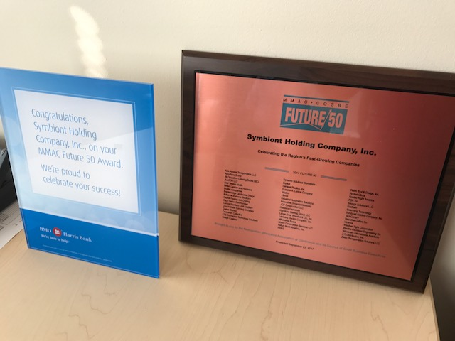 Symbiont receives Future 50 award by Milwaukee Metropolitan Association of Commerce